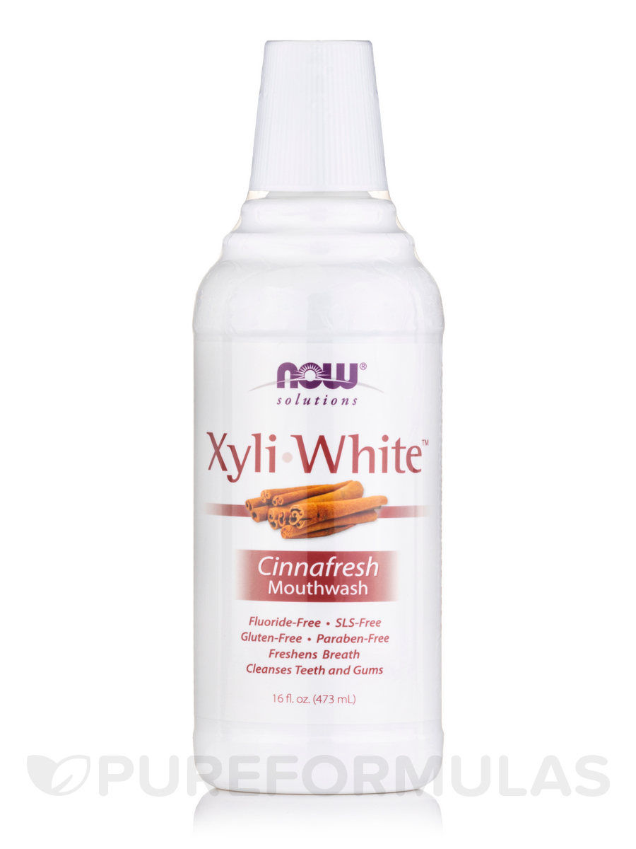 NOW® Solutions - XyliWhite™ Mouthwash, Cinnafresh - 16 fl. oz (473 ml)