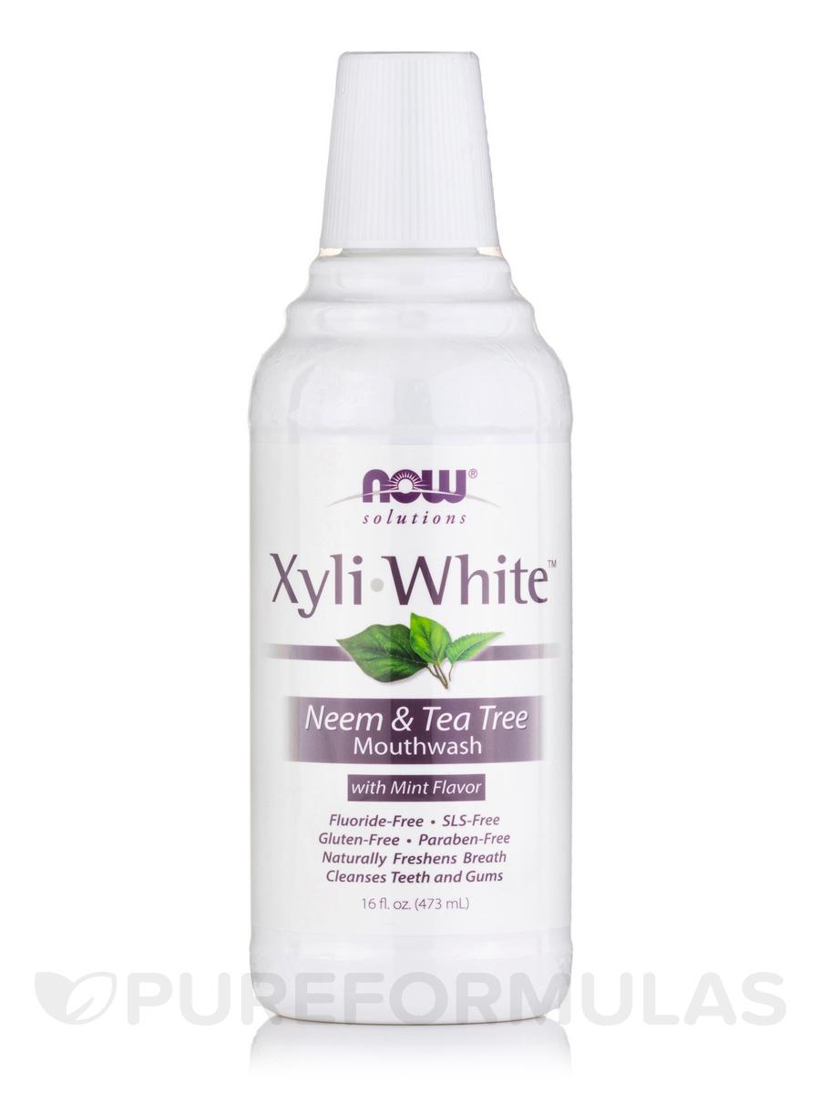 NOW® Solutions - XyliWhite™ Mouthwash, Neem & Tea Tree - 16 fl. oz (473 ml)