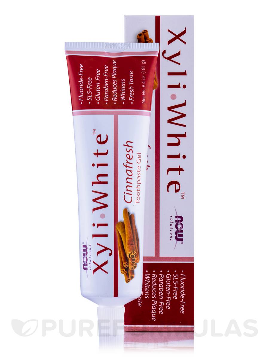 NOW® Solutions - XyliWhite™ Toothpaste Gel, Cinnafresh - 6.4 oz (181 Grams)