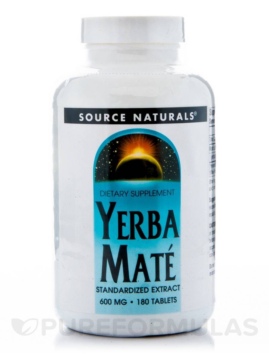 Yerba Mate 600 mg - 180 Tablets
