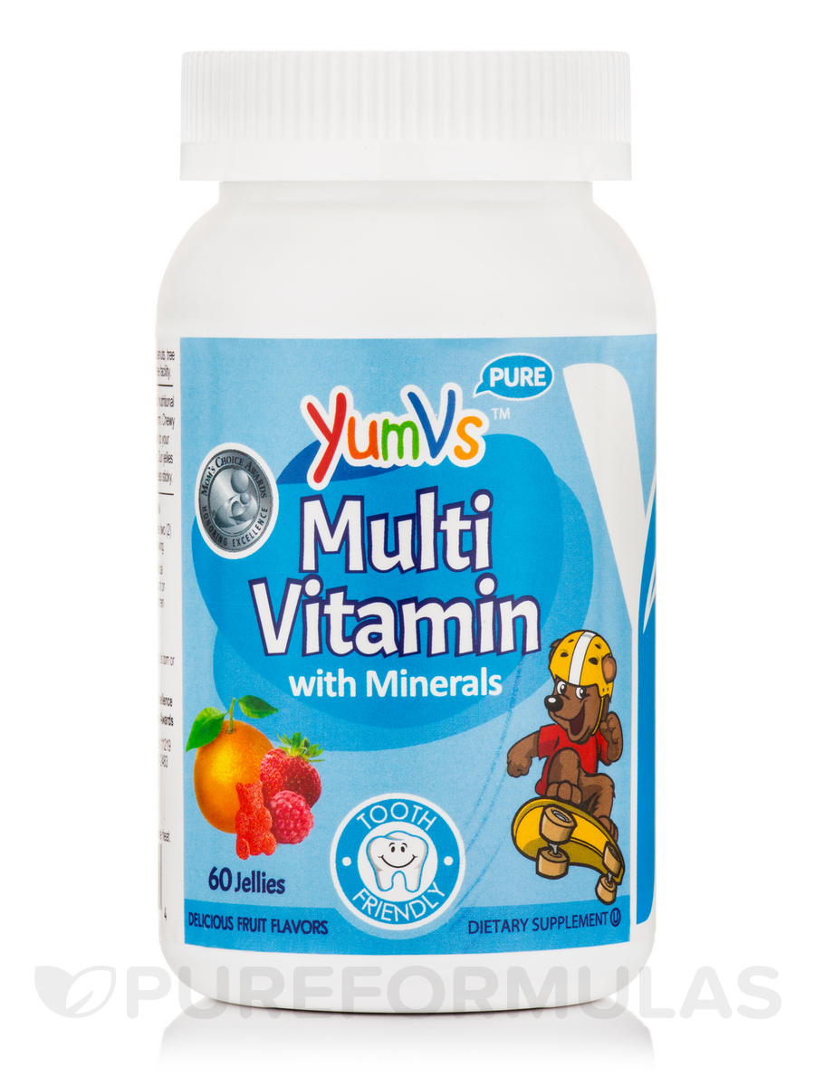 Yum-V's™ Multivitamin Complete Plus Mineral Formula, Assorted Fruit Flavors - 60 Jelly Bears