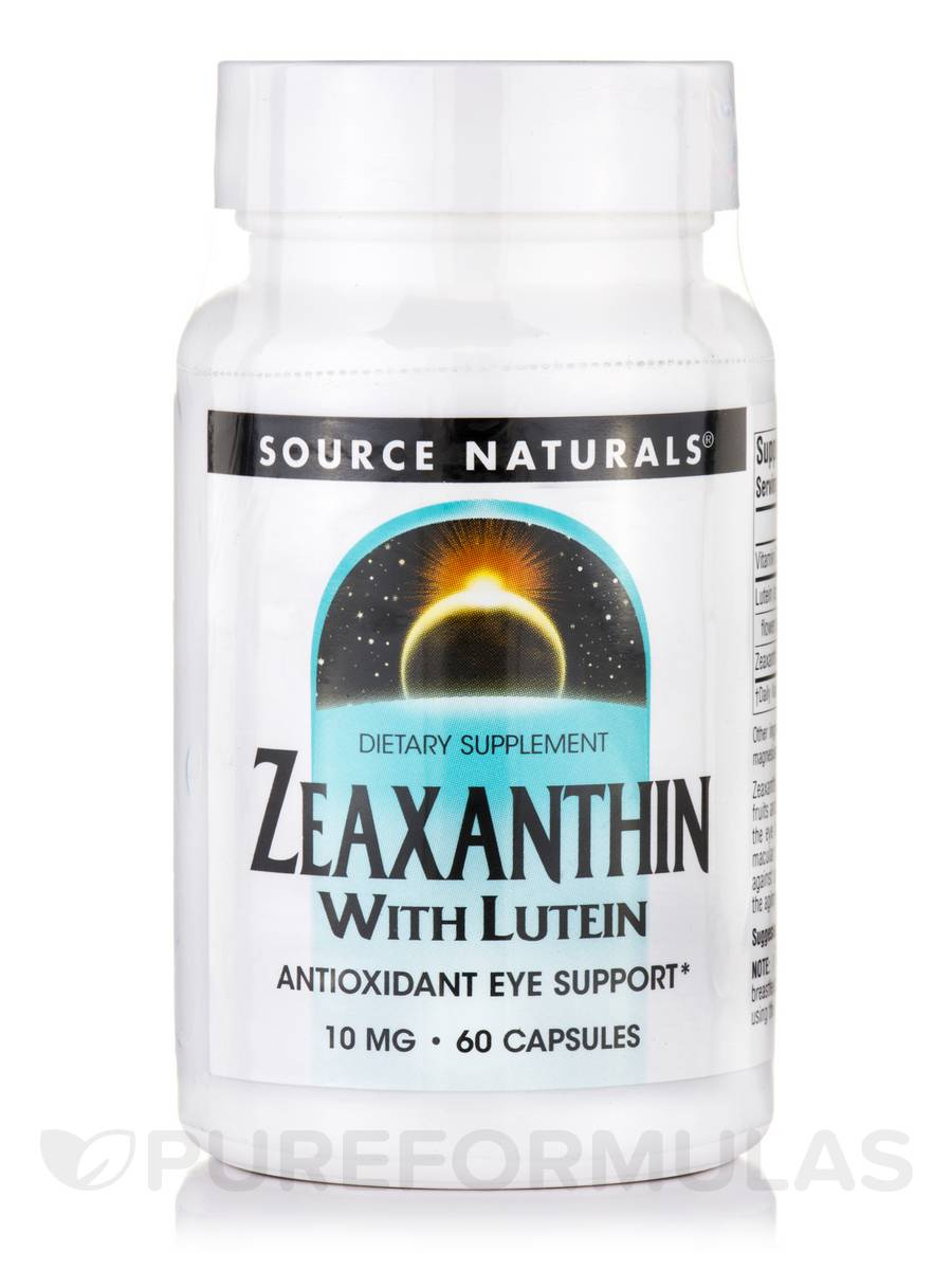 Zeaxanthin with Lutein 10 mg - 60 Capsules