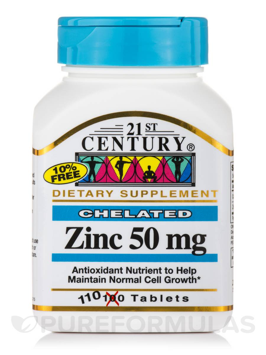Zinc 50 mg - 110 Tablets