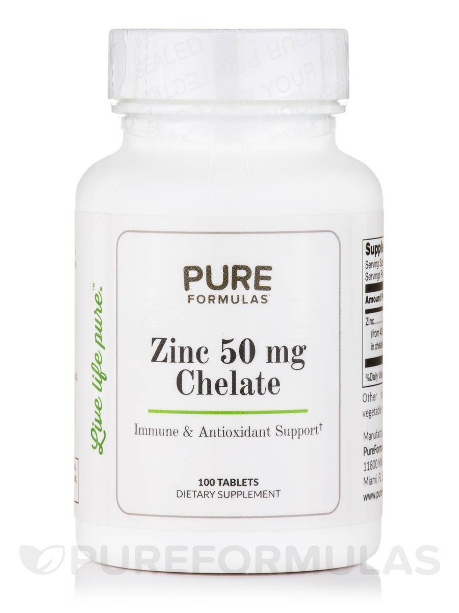 Zinc 50 mg Chelate - 100 Tablets