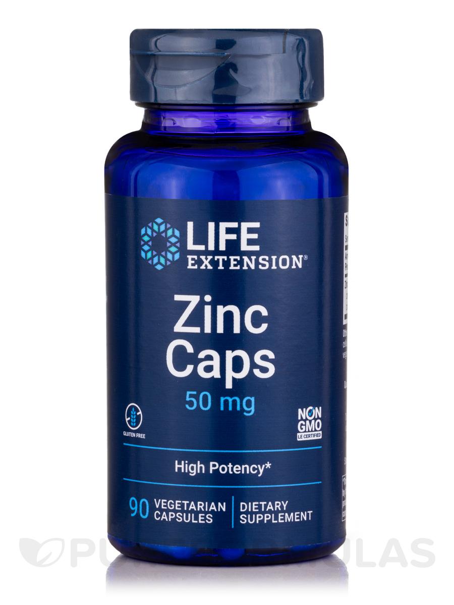 Zinc Caps 50 mg - 90 Vegetarian Capsules