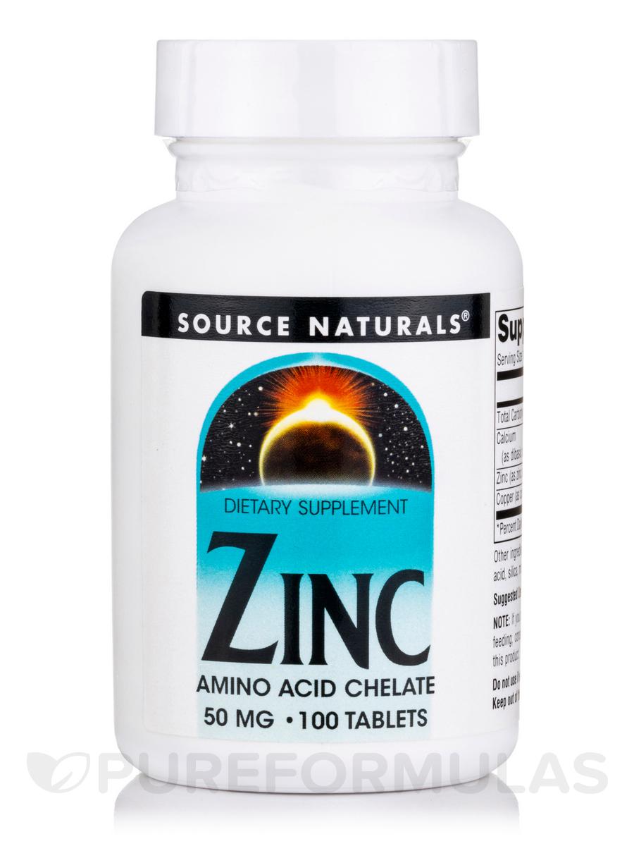 Zinc (Amino Acid Chelate) 50 mg - 100 Tablets