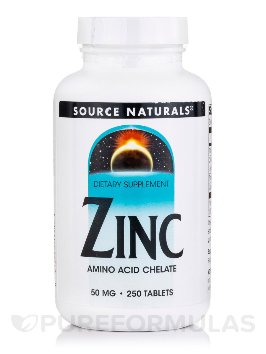 Zinc (Amino Acid Chelate) 50 mg - 250 Tablets