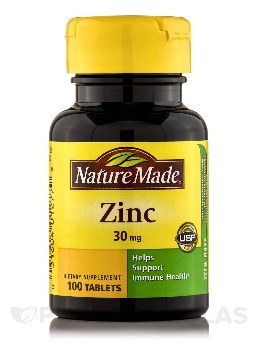Zinc 30 mg - 100 Tablets
