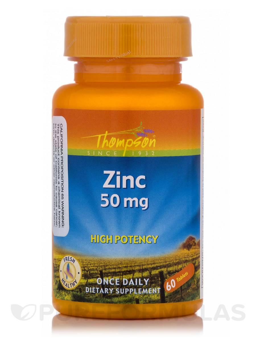 Zinc High Potency 50 mg - 60 Tablets