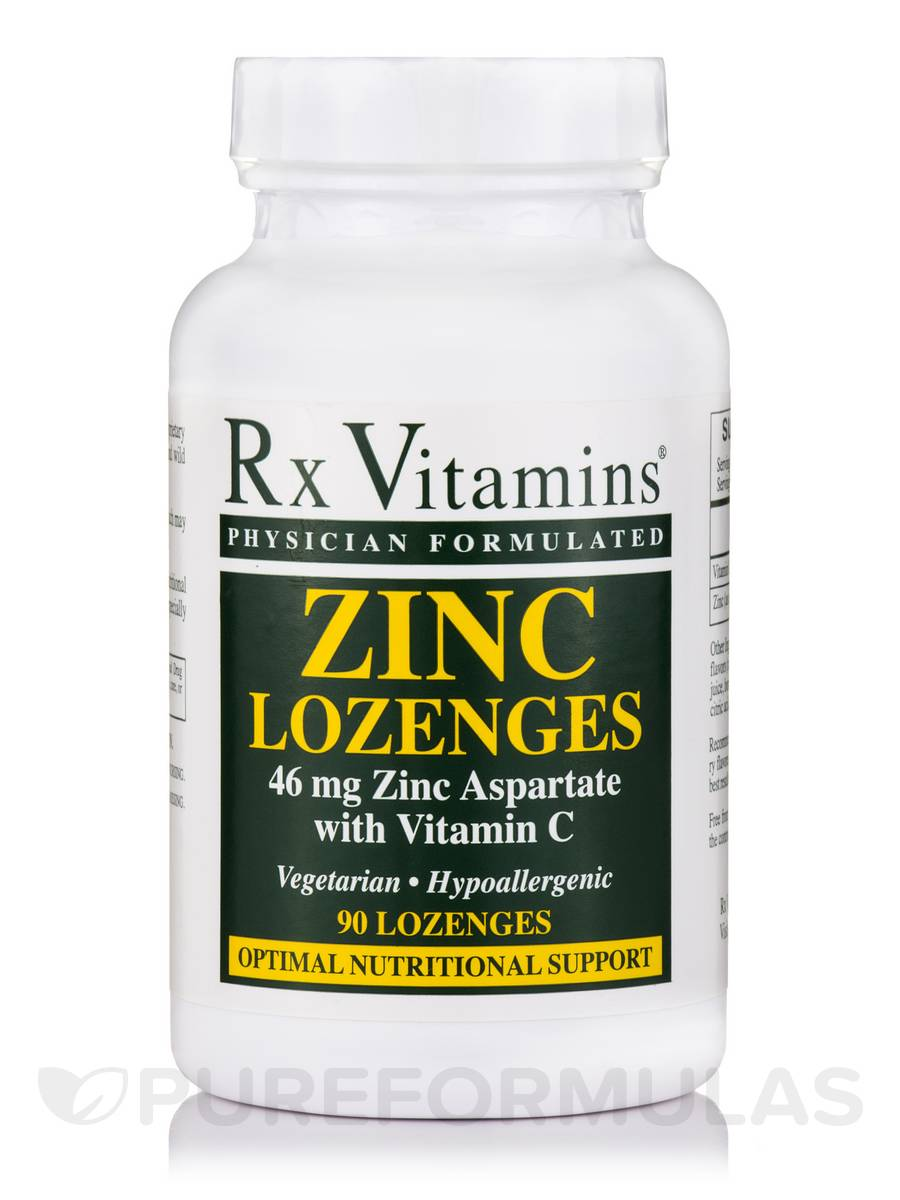 Zinc (46 mg Zinc Aspartate with Vitamin C) - 90 Lozenges