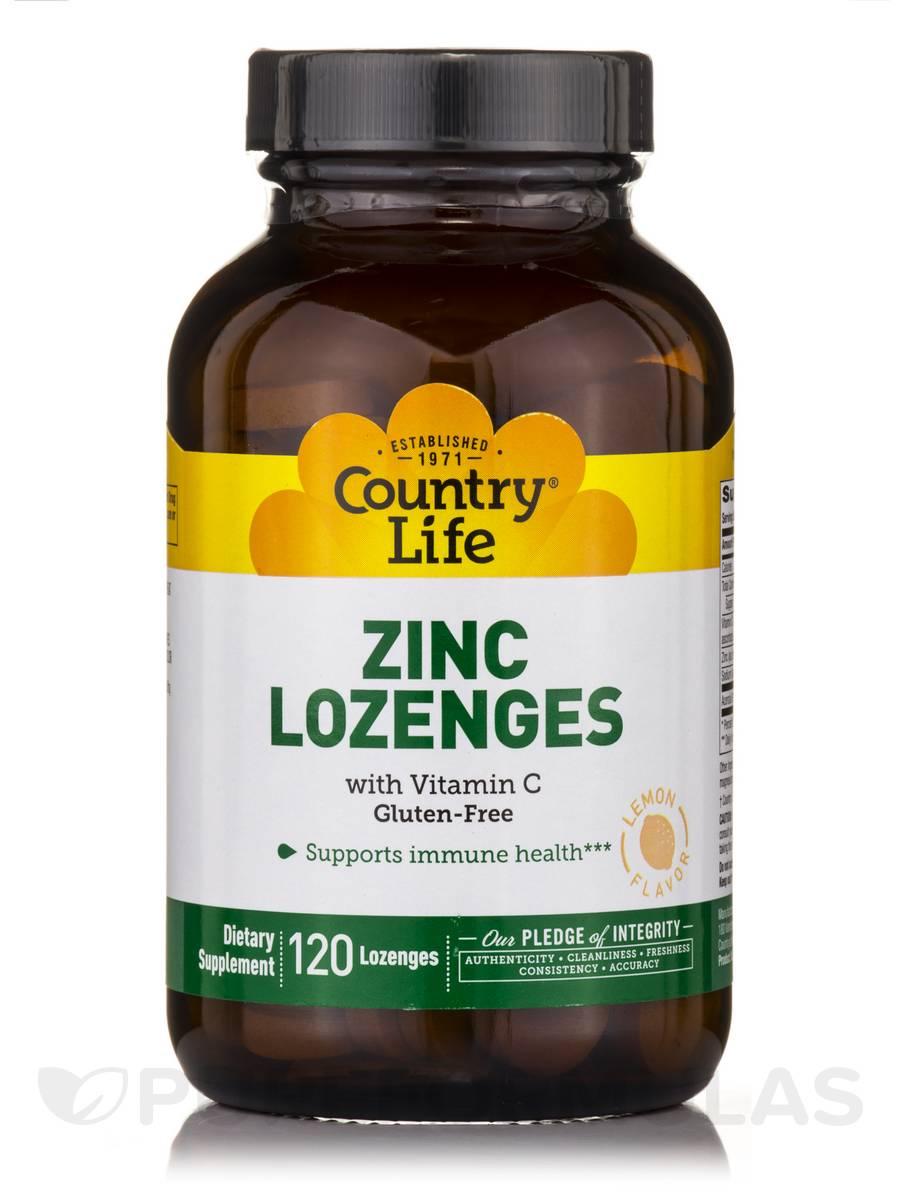 Zinc Lozenges 23 mg with Vitamin C - 120 Lozenges