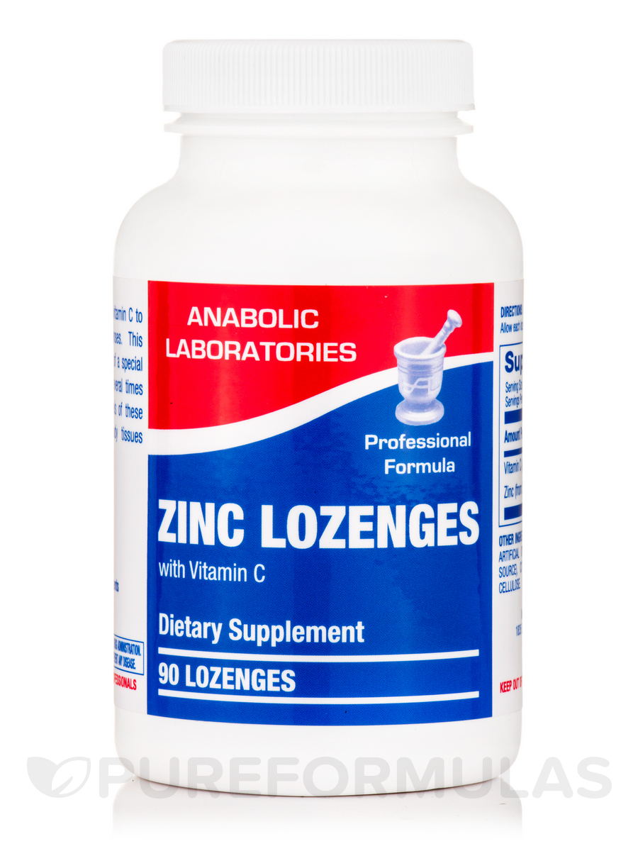 Zinc Lozenges with Vitamin C, Orange Flavor - 90 Tablets
