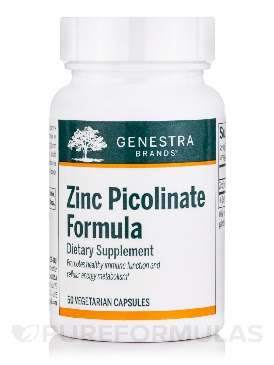 Zinc Picolinate Formula - 60 Vegetable Capsules