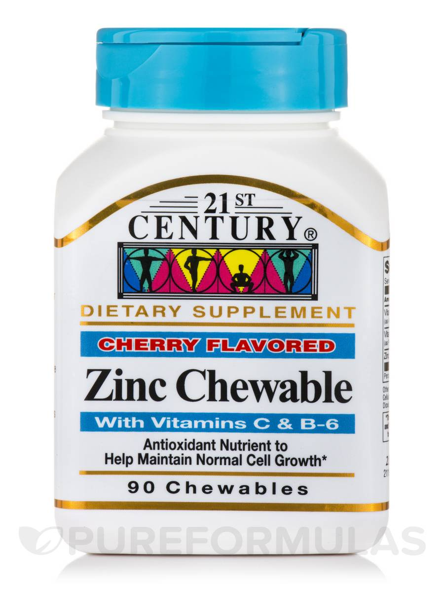 Zinc wih C and B6 (Cherry Flavored) - 90 Chewables