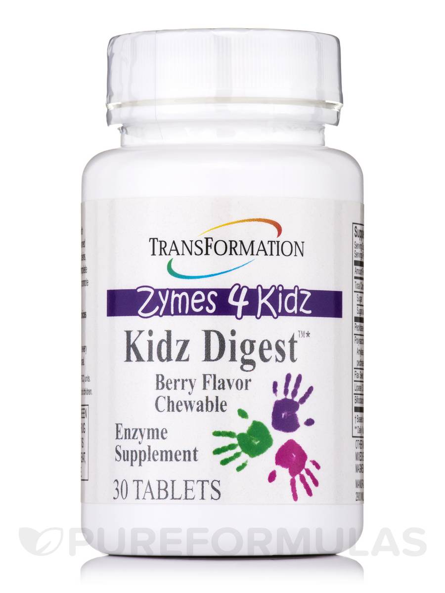 Zymes 4 Kidz - Kidz Digest™ Chewable Berry Flavor - 30 Tablets