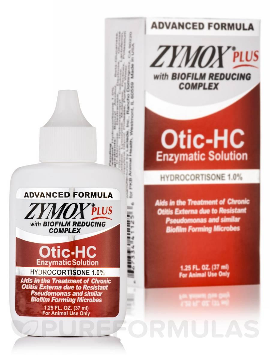 Zymox® Plus Otic-HC Enzymatic Solution (Hydrocortisone 1.0%) - 1.25 fl. oz (37 ml)