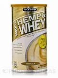 100% Hemp & Whey Powder, Vanilla Flavor - 13.3 oz (379 Grams)