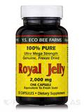 100% Pure Freeze Dried Royal Jelly 2,000 mg (Ultra Mega Strength) 35 Capsules