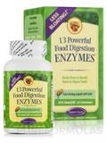 13-Powerful Food Digestion Enzymes 60 Liquid Soft-Gels