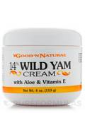 14% Wild Yam Cream with Aloe and Vitamin E - 4 oz (113 Grams)