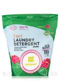 3-In-1 Laundry Detergent Powder, Water Lily - 100 Loads (4 lbs / 64 oz / 1.81 kg)