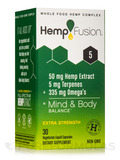5.0 Hemp Extract, Extra-Strength - 30 Vegetarian Liquid Capsules