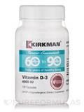 60 to 90 Vitamin D-3 4000 IU -Hypoallergenic - 120 Vegetarian Capsules