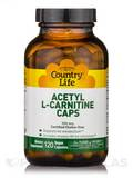 Acetyl L-Carnitine 500 mg 120 Vegetarian Capsules