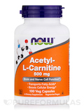 Acetyl-L Carnitine 500 mg 100 Vegetarian Capsules