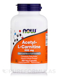 Acetyl-L Carnitine 500 mg - 200 Vegetarian Capsules