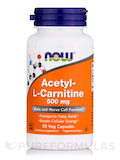 Acetyl-L Carnitine 500 mg - 50 Vegetarian Capsules