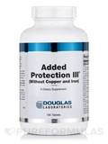 Added Protection III w/o Copper and Iron 180 Tablets