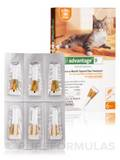 Advantage® for Cats and Kittens (8 weeks and older, up to 9 lbs) - Six Tubes (0.014 fl. oz / 0.4 ml