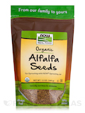 NOW® Real Food - Alfafa Seeds for Sprouting (Organic) - 12 oz (340 Grams)