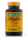 Alfalfa 500 mg (7-1/2 grain) 250 Tablets