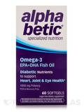 alpha betic Omega-3 EPA+DHA Fish Oil 60 Softgels