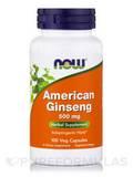 American Ginseng 500 mg - 100 Veg Capsules