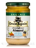 Amoré Organic Spread Almond with White Cocoa Butter - 12 oz (340 Grams)