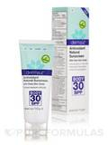 Antioxidant Natural Sunscreen with Clear Zinc Oxide Oil-Free Body Lotion SPF 30 - 4 oz (113 Grams)