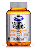 NOW® Sports - Arginine & Ornithine 500/250 - 100 Capsules