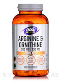 NOW® Sports - Arginine & Ornithine 500/250 - 250 Capsules