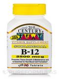 B-12 2500 mcg 110 Sublingual Tablets