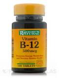 B-12 500 mcg 100 Tablets