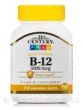 B-12 5000 mcg 110 Sublingual Tablets