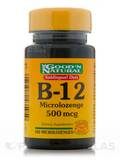 B-12 Sublingual 500 mcg - 100 Microlozenges