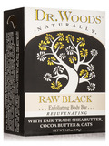 Bar Soap - Raw Black Exfoliating Body Bar - 5.25 oz (149 Grams)