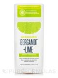 Bergamot + Lime Natural Deodorant Stick - 3.25 oz (92 Grams)