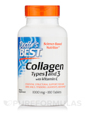Best Collagen Types 1 & 3 - 1000 mg - 180 Tablets