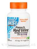 Best French Red Wine Extract 60 mg - 90 Veggie Capsules