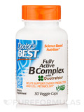 Fully Active B Complex with Quatrefolic® - 30 Veggie Capsules